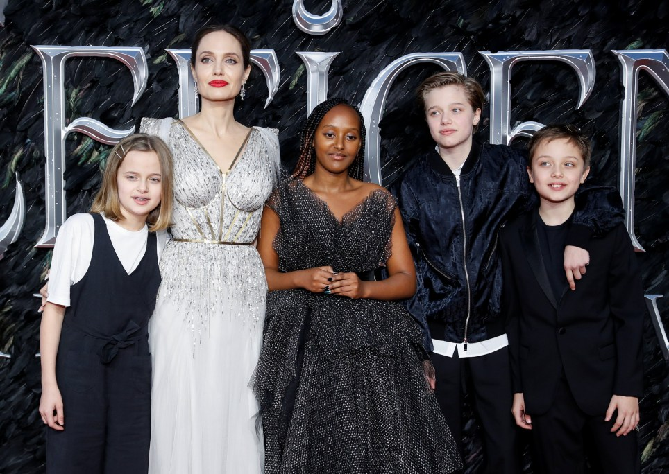 Angelina Jolie Celebrates Maleficent 2 Premiere With Kids