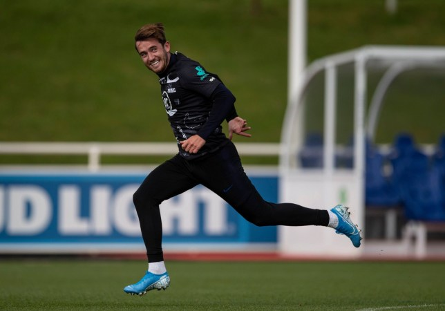 Editorial Use Only Mandatory Credit: Photo by Eddie Keogh for The FA/REX (10439914az) Ben Chilwell during training England Mens Senior Football Team Camp, St. George's Park National Football Centre, Burton upon Trent, UK - 09 Oct 2019