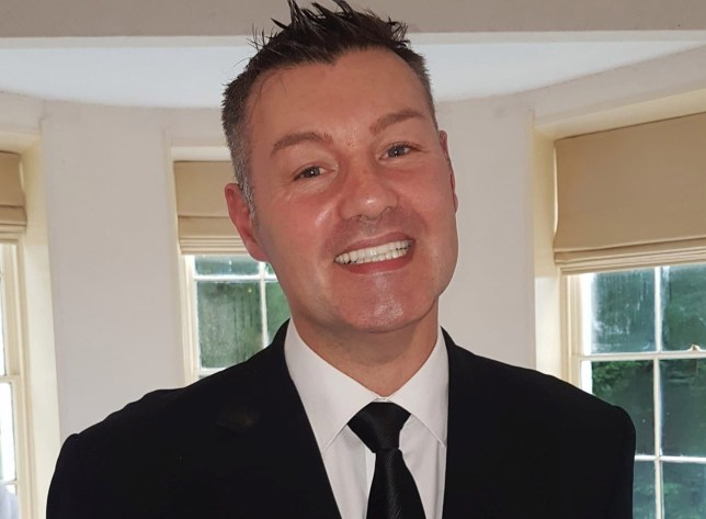 """Wedding planner Darren Hickey, 51, died after eating a hot fishcake burnt his throat, caused his voice box to swell, and eventually choke, an inquest heard. See SWNS story SWLEfishcake. A wedding planner died just 12 hours after sampling a hot fishcake at a venue which burned his throat and caused him to stop breathing, an inquest heard. Darren Hickey's voice box swelled up after he ate the """"very hot"""" food, which got worse and eventually caused him to choke. An inquest into his death heard how he would have had difficulty breathing and swallowing due to the pain and swelling. Pathologist Dr Patrick Waugh, who performed Mr Hickey's post-mortem, said his case is very rare and normally seen in people involved in house fires with inhalation of smoke, which burns the airways."""
