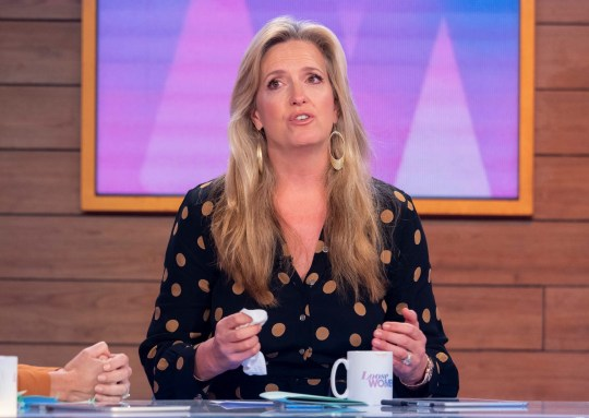 Editorial use only Mandatory Credit: Photo by Ken McKay/ITV/REX (10440669cx) Penny Lancaster 'Loose Women' TV show, London, UK - 10 Oct 2019