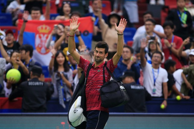 Novak Djokovic was beaten by Stefanos Tsitsipas in the Shanghai Masters quarter finals