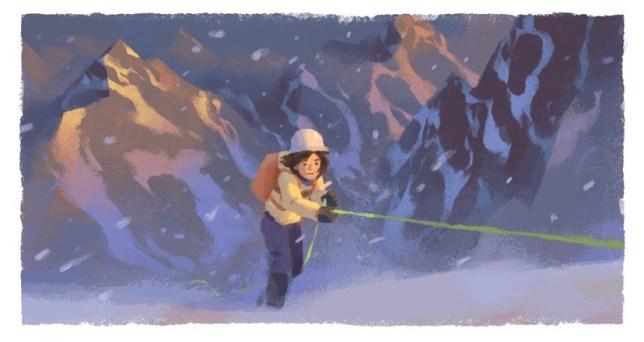 A Google Doodle of Wanda Rutkiewicz