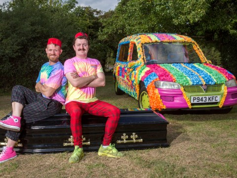 Flower power rainbow hearse owners want to make underwater funerals a thing