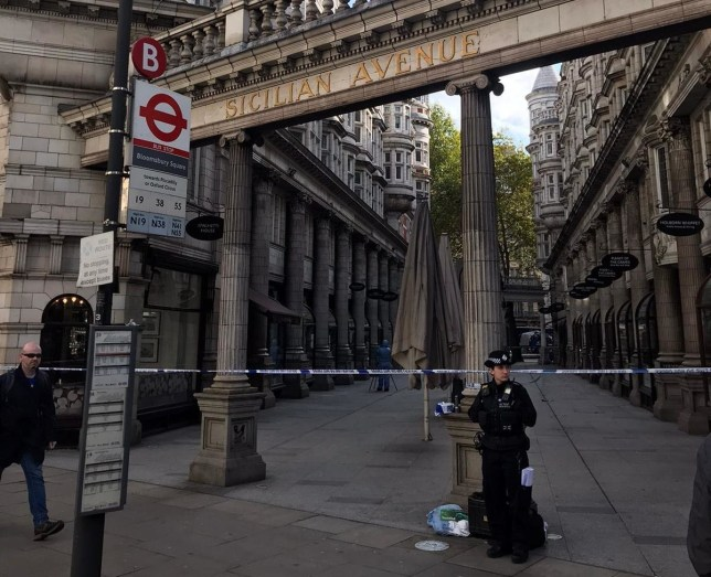 Police have shut off a street in Holborn after a woman was reportedly attacked. A cordon was put up in Sicilian Avenue on Saturday morning (October 19) and forensic officers can be seen gathering evidence at the scene. One witness claims a police officer at the cordon told them a woman was attacked.