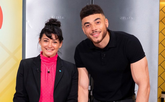 Editorial use only Mandatory Credit: Photo by Ken McKay/ITV/REX (10452620bz) Natalie J Robb and Jurell Carter 'Lorraine' TV show, London, UK - 22 Oct 2019 EMMERDALE?S MOIRA & NATE AHEAD OF AN EXPLOSIVE NIGHT IN THE DALES? *Last night Cain Dingle uncovered that his wife Moira has been having an affair with her farmhand Nate. *This morning actors Natalie J Robb & Jurell Carter will be telling us about the steamy scenes that led to a week where they face the wrath of Cain? *Natalie will also be revealing how playing the so-called 'Mucky Moira' has led to some unwanted attention in her life away from the screen?