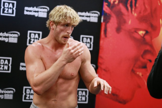 HOLLYWOOD, CALIFORNIA - OCTOBER 22: Logan Paul works out for the media during his Logan Paul Workout Showcase at Wild Card Boxing Club on October 22, 2019 in Hollywood, California. (Photo by Leon Bennett/Getty Images)