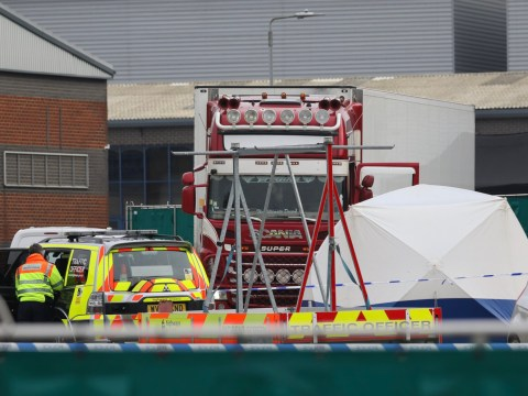 Bodies of 39 people found in back of lorry on Essex industrial estate