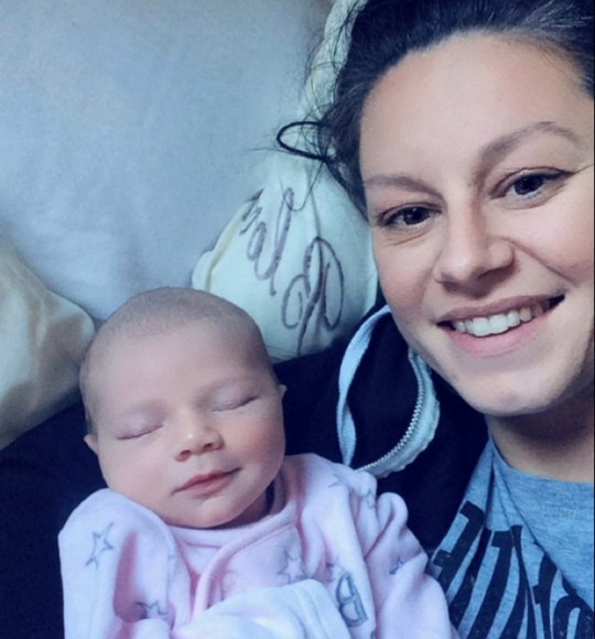 PIC BY CATERS NEWS (PICTURED Six-week-year-old Isabella (LEFT) with her mum Danielle McSherry-Schee (RIGHT).) A new mum has hilarious taught her baby not to fall asleep at parties after drawing a pair of bold eyebrows onto her fair-haired tot. Danielle McSherry-Schee, 27, from Fife, Scotland, says was desperate to see what her six-week-old baby would look like if her eyebrows were visible - and had the perfect opportunity when little Isabella fell asleep. Whipping out her make-up powder, the stay-at-mum was left in hysterics when she saw the bold new eyebrows on the peacefully sleeping tots face WHEN. SEE CATERS COPY.