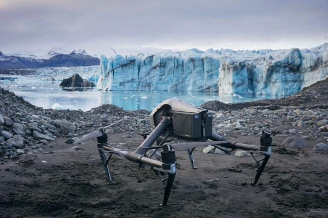 Undated handout photo issued by Dr Kieran Baxter/University of Dundee of drone photography modelled in 3D using special software to show the scale of ice loss from some of Iceland???s largest glaciers. PA Photo. Issue date: Friday October 25, 2019. The composite images document changes to a group of glaciers on the south side of Vatnajokull, one of the largest ice caps in Europe, from the 1980s to the present day. See PA story ENVIRONMENT Glacier. Photo credit should read: /PA Wire NOTE TO EDITORS: This handout photo may only be used in for editorial reporting purposes for the contemporaneous illustration of events, things or the people in the image or facts mentioned in the caption. Reuse of the picture may require further permission from the copyright holder.