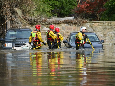 More than 110 flood alerts issued with roads submerged and rivers overflowing