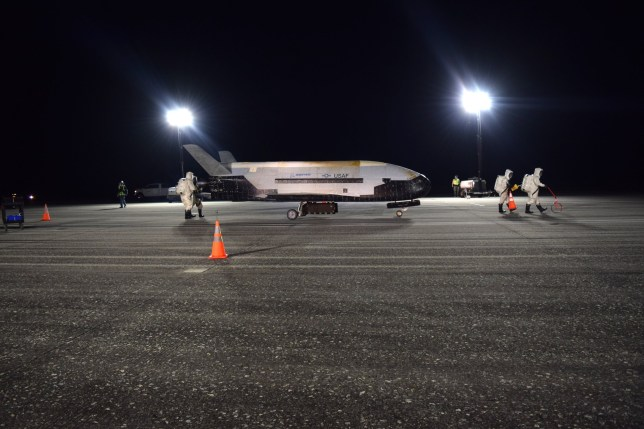 Picture: U.S. Air Force Air Force secret space plane lands after 780 day mystery mission