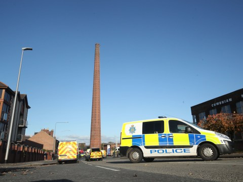 Man dies after being trapped 270ft in the air on giant chimney