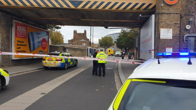 A policeman has been taken to hospital after being hit by a car in White Hart Lane, Tottenham