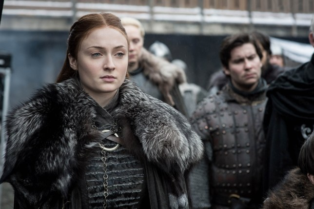Editorial use only. No book cover usage. Mandatory Credit: Photo by HBO/BSkyB/Kobal/REX (10222109o) Sophie Turner as Sansa Stark, Gwendoline Christie as Brienne of Tarth and Daniel Portman as Podrick Payne 'Game of Thrones' TV Show Season 8 - 2019 Nine noble families fight for control over the mythical lands of Westeros, while an ancient enemy returns after being dormant for thousands of years.