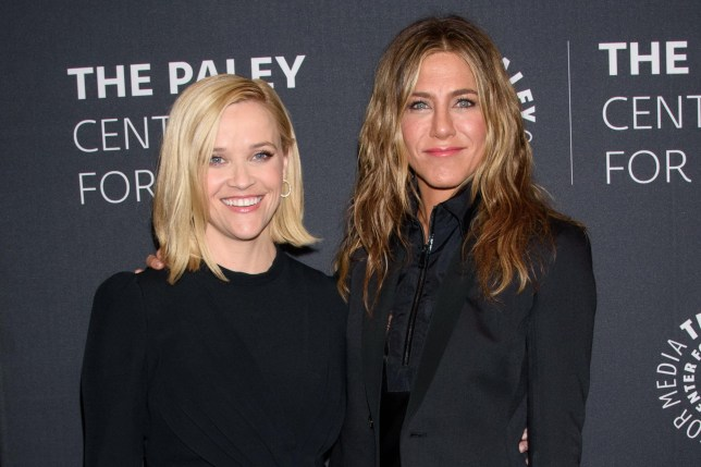 Reese Witherspoon and Jennifer Aniston who are in The Morning Show together