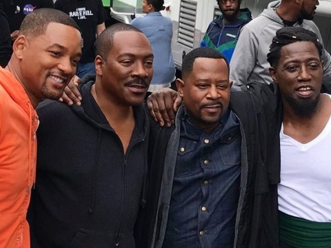 Will Smith, Eddie Murphy, Wesley Snipes and Martin Lawrence take the most legendary photo together