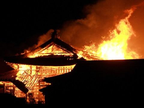 Huge blaze ravages 600-year-old Japanese castle