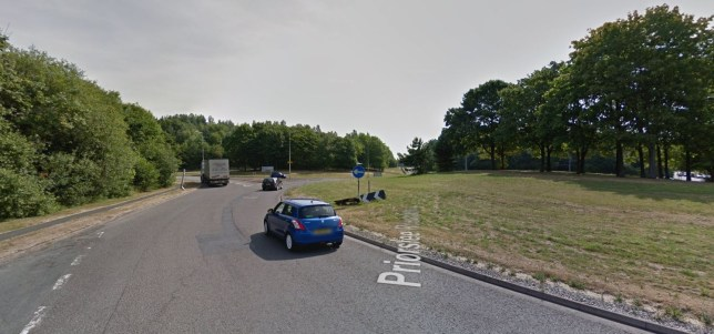 The girl was attacked near Priorslee roundabout in Telford, Shropshire (Picture: Google)