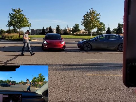 Man tests Tesla's 'Smart Summon' feature by trying to run himself over