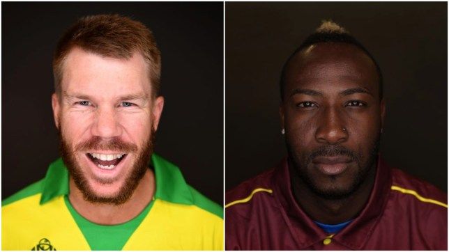 David Warner and Andre Russell have entered the draft for The Hundred