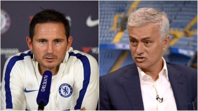 Chelsea boss Frank Lampard and former Manchester United manager Jose Mourinho
