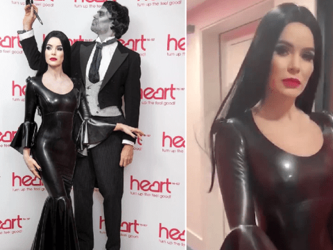 Amanda Holden and Jamie Theakston are seriously creepy as Addams Family's Morticia and Lurch for Halloween