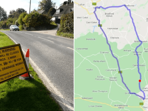 Fury at 41-mile diversion around just 20 metres of roadworks