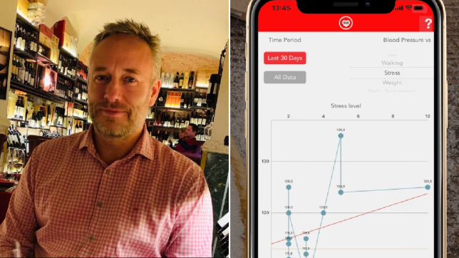 Man invents blood pressure app and cures his own condition after doctors can't