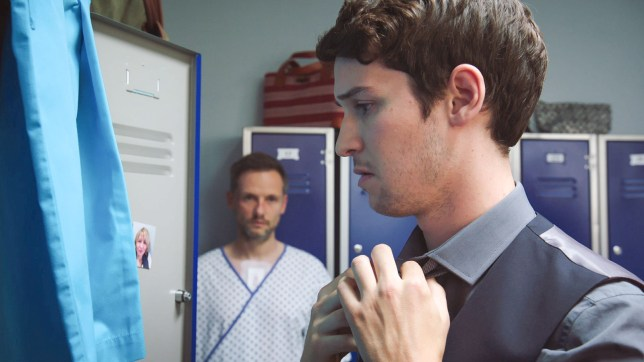 Cameron and Evan in Holby City