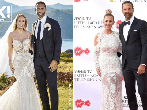 Kate Wright's wedding dress revealed as she opens up on emotional day with Rio Ferdinand