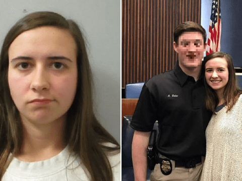 Teacher's cop husband files for divorce after she 'had sex with teen student'