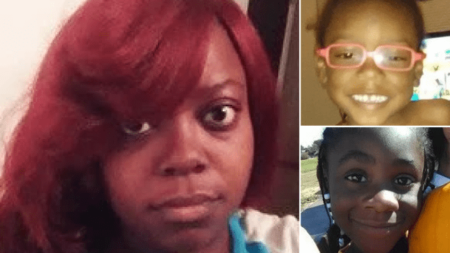 Photos of mother Mariah Cunningham and her children A'Laylaih and Elijah Foster