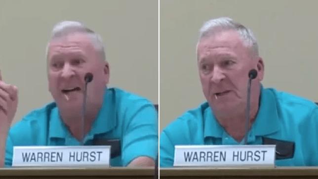 Grabs of homophobic politician Warren Hurst