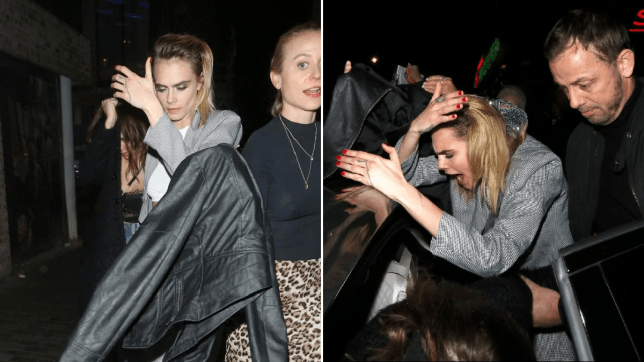 Cara Delevingne keeps head down as she leaves Nasty Gal party after packing on PDA with girlfriend Ashley Benson