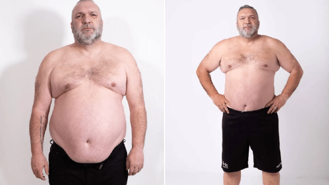 Neil 'Razor' Ruddock loses more than a stone after being told he could 'drop dead' in seconds