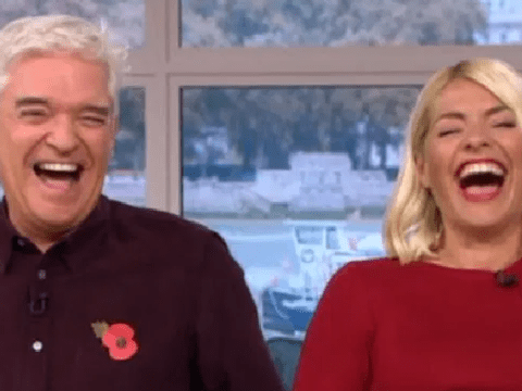 Holly Willoughby and Phillip Schofield lose it as Miriam Margolyes 'swears' in chaotic live TV interview