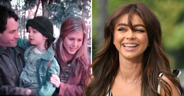 Sarah Hyland honours Jennifer Aniston's new Instagram with a throwback of Friends star and Paul Rudd playing her parents