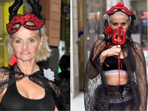 Danniella Westbrook gets in the Halloween spirit with frightfully devilish outfit