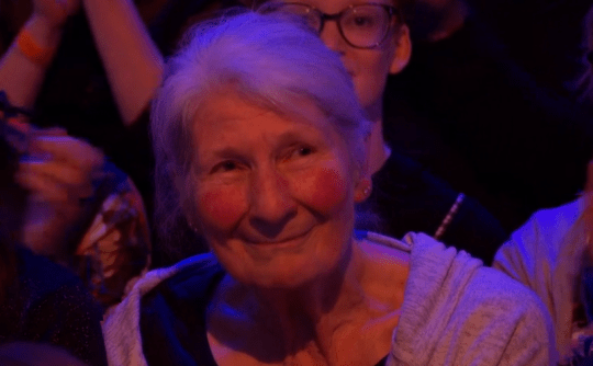 David James' mum in the Strictly audience