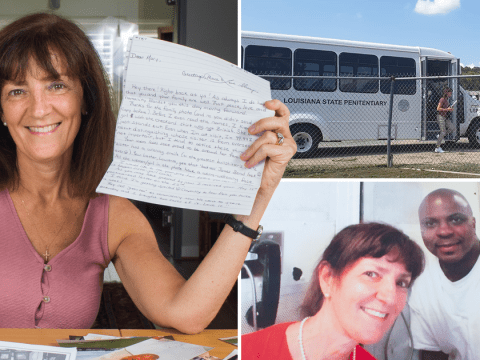 Woman spends £8,000 flying globe to visit death row killers