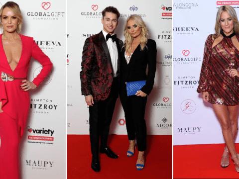 Amanda Holden leads the Global Gift Gala glam as Caroline Flack, David Walliams, Eva Longoria hit the red carpet