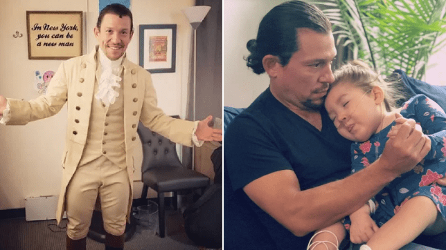 Hamilton star Miguel Cervantes returns to stage days after three-year-old daughter's death