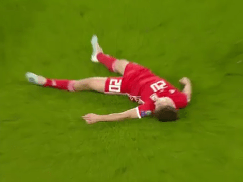 Daniel James somehow plays on after horrific head clash during Wales match