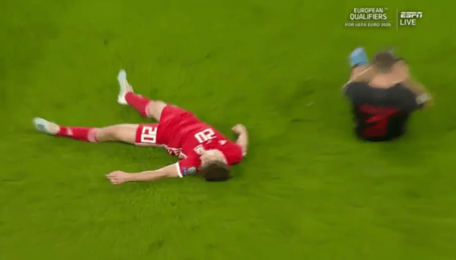 Man Utd star Daniel James somehow plays on after horrific head clash during Wales match
