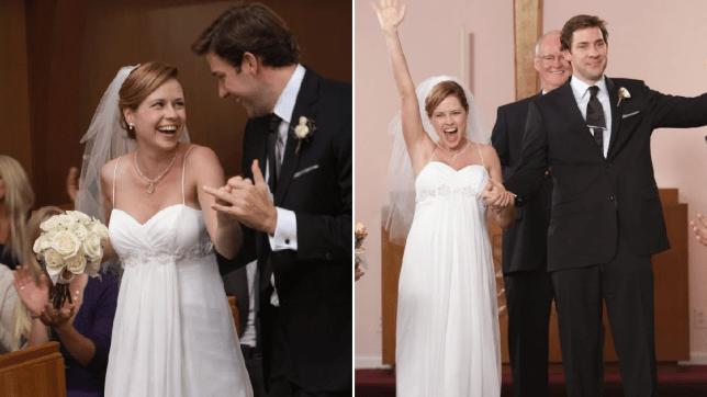 Jim Pam the office wedding niagra