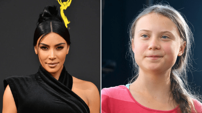 Kim Kardashian and Greta Thunberg