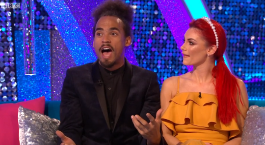 Dev Griffin and Dianne Buswell on It Takes Two