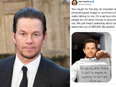 Mark Wahlberg warns fans against imposter using photoshop pictures to scam for $85,000
