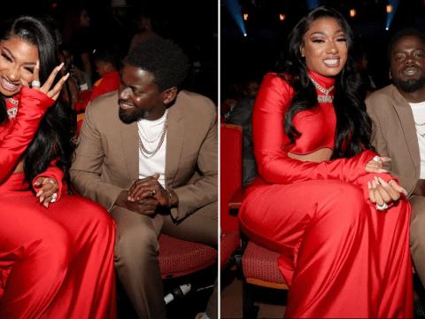Megan Thee Stallion finds Daniel Kaluuya hilarious as they bond at BET Hip Hop Awards 2019