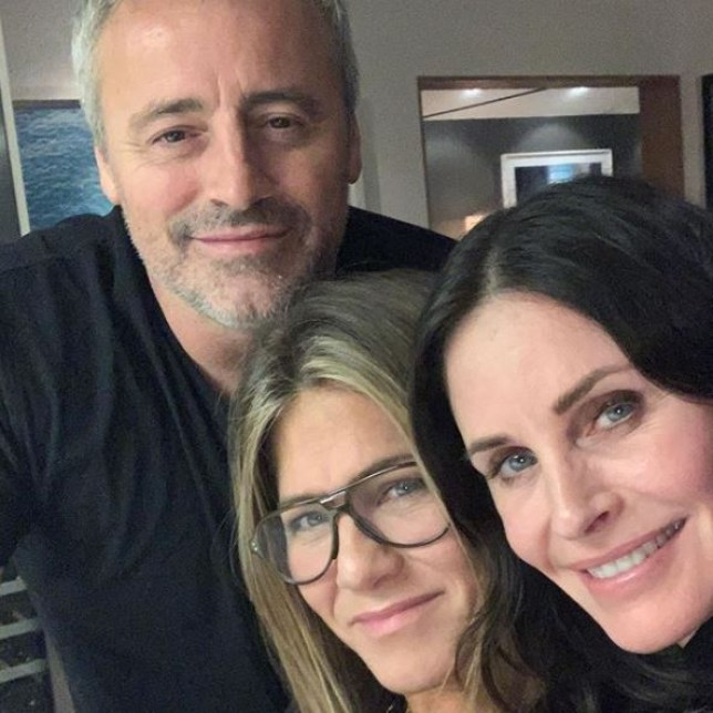Matt Le Blanc, Courteney Cox and Jennifer Aniston